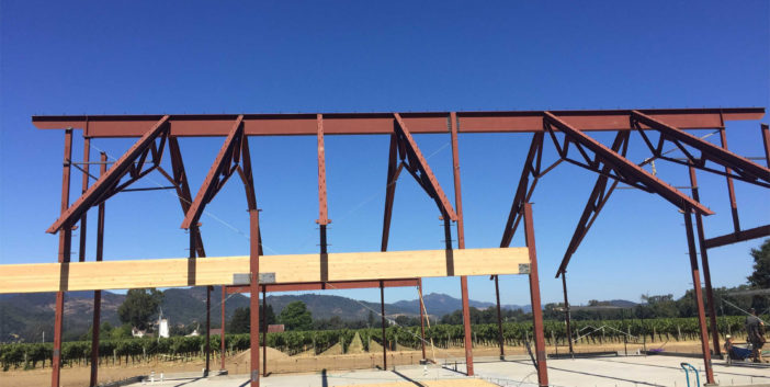 Napa Structural Steel Barn Project IMG7