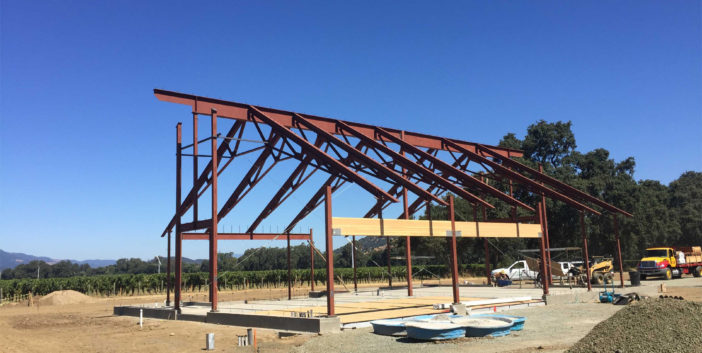 Napa Structural Steel Barn Project IMG8