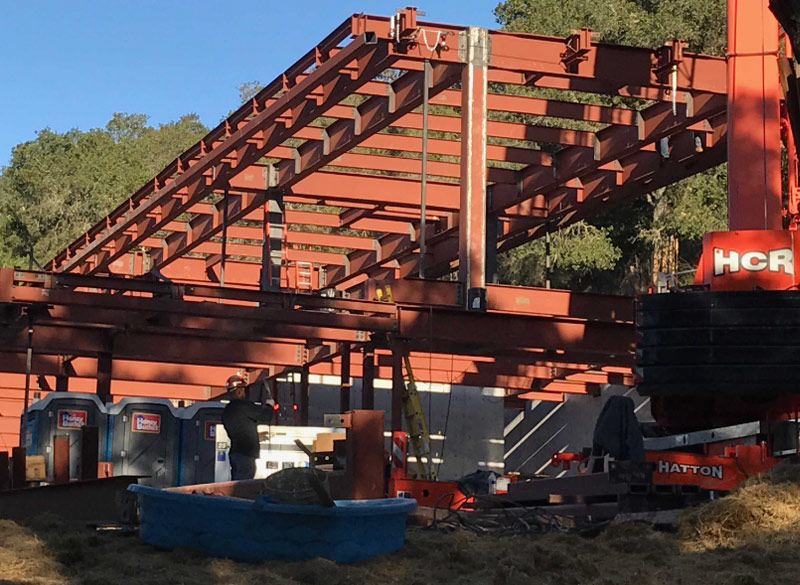 Steel Frame - Portola Valley Project